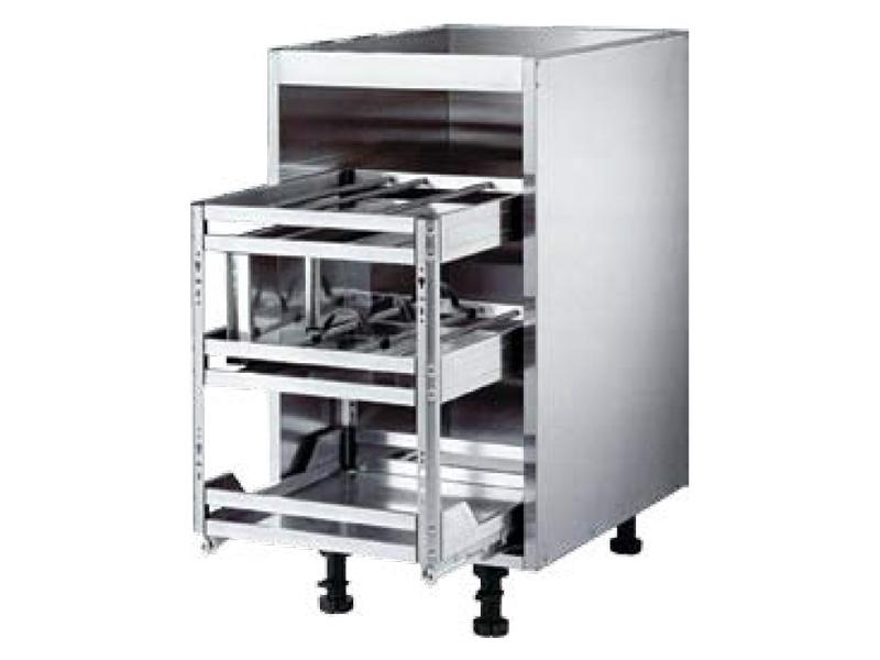 Seasoning basket cabinet